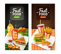 Fast Food 2 Vertical Banners Set Royalty Free Stock Photo