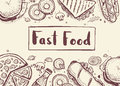 Fast food vintage hand drawn graphic design