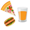 Fast food on a white background Stock Image