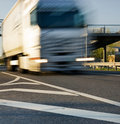 Fast moving truck Royalty Free Stock Photo