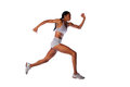 Fast running athlete  woman Royalty Free Stock Photography