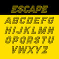 Fast speed style alphabet