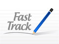 Fast track message sign concept illustration design over white Royalty Free Stock Photo