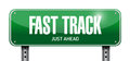 fast track road sign illustration design Royalty Free Stock Photo