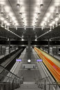 Fast train in central station Berlin Royalty Free Stock Photos