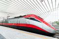 Fast train in italy a the new station of reggio emilia Stock Image