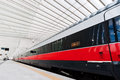 Fast train in italy a the new station of reggio emilia Royalty Free Stock Photography