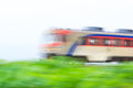 Fast train a moving korean Royalty Free Stock Images