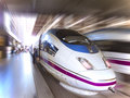 Fast train: spanish high speed AVE series Stock Image