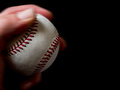 Fastball pitch left handed pitcher Stock Photo