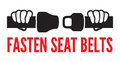 Fasten your seat belts icon vector illustration of the sign Royalty Free Stock Images