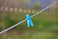 Fastener on a rope Royalty Free Stock Photo