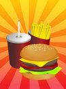 Fastfood combo Royalty Free Stock Images