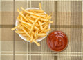 Fastfood. French fries Royalty Free Stock Photo