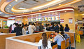 Fastfood resturant interior Royalty Free Stock Photo