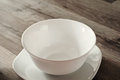 Fasting. empty plate and saucer Royalty Free Stock Photo
