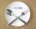 Fasting Royalty Free Stock Photo