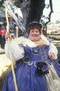 Fat Actress in Costume at Renaissance Faire, Agoura, California Royalty Free Stock Photo
