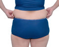 Fat Asian woman in swim suit Royalty Free Stock Photo