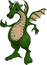 Fat belly dragon with button and wings standing erect with sharp claws Stock Images