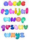 Fat bubble lower case alphabet Royalty Free Stock Photo
