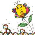 Fat butterfly cute stick flower