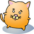 Fat cat cartoon Royalty Free Stock Photos
