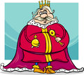 Fat king cartoon fantasy character illustration of funny fairytale Royalty Free Stock Photography