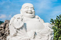 Fat laughing Buddha Stock Photography