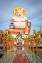 Fat laughing buddha in koh samui thailand Stock Photography
