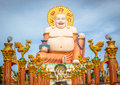 Fat laughing buddha in koh samui thailand Royalty Free Stock Photography