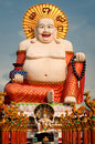 Fat laughing buddha over blue sky koh samui thailand Royalty Free Stock Photography