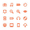 Fat Line Icons Royalty Free Stock Photo
