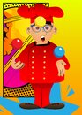 Chef in uniform as a juggler. Royalty Free Stock Photo