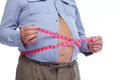 Fat Man Measuring His Big Stom...