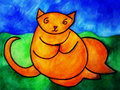 Fat Orange Cat Royalty Free Stock Images