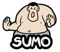 Fat sumo creative design of Stock Photos