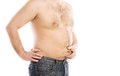 Fat young man Royalty Free Stock Images