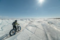 Fatbike. Fat tire bike. Royalty Free Stock Photo