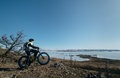 Fatbike (fat bike or fat-tire bike) Royalty Free Stock Photo