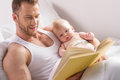 Father and baby. Royalty Free Stock Photo