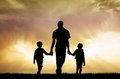 Father and children Royalty Free Stock Photo