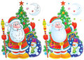 Father Christmas clip-art Stock Images