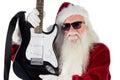 Father Christmas Shows A Guitar