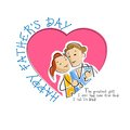Father and daughter in father s day background vector illustration of Stock Images