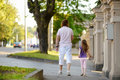Father and daughter having a walk Royalty Free Stock Photo