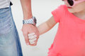 Father and daughter holding hands Royalty Free Stock Photography