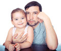 Father and dauther Royalty Free Stock Images