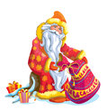 Father frost or santa claus with gifts Royalty Free Stock Photo