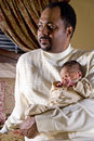 Father holding newborn baby Royalty Free Stock Photography